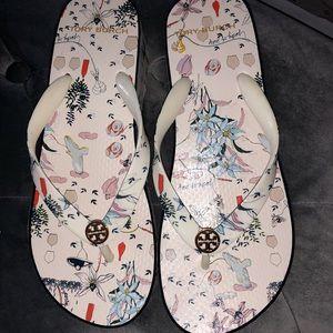 Tory Burch Wedge Flip Flops Size 7 Like New